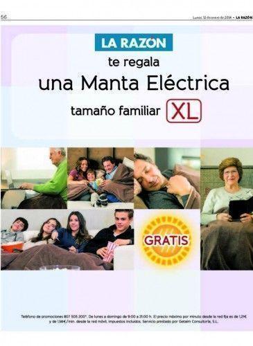 Manta eléctrica promociónn La Razón