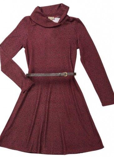 vestido color teja Surkana