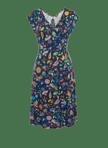 SURKANA Vestido estampado azulón mc PVP. 49,90€